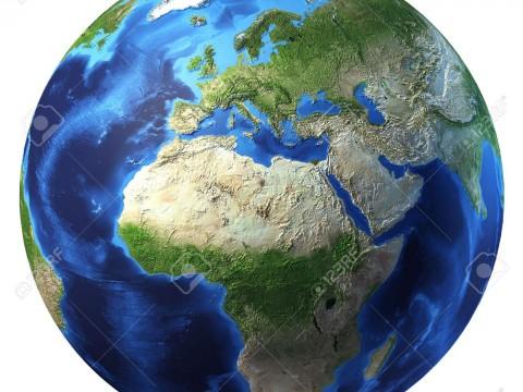 11779728-Planet-Erde-mit-einigen-Wolken-Europa-und-Afrika-zu-sehen--Lizenzfreie-Bilder