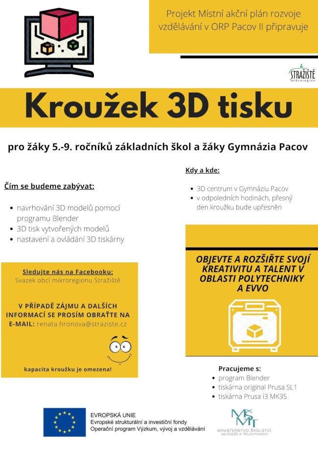 3D tisk - plakát.